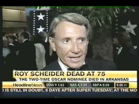 Headline   on the Death of actor Roy Scheider  Feb., 2008