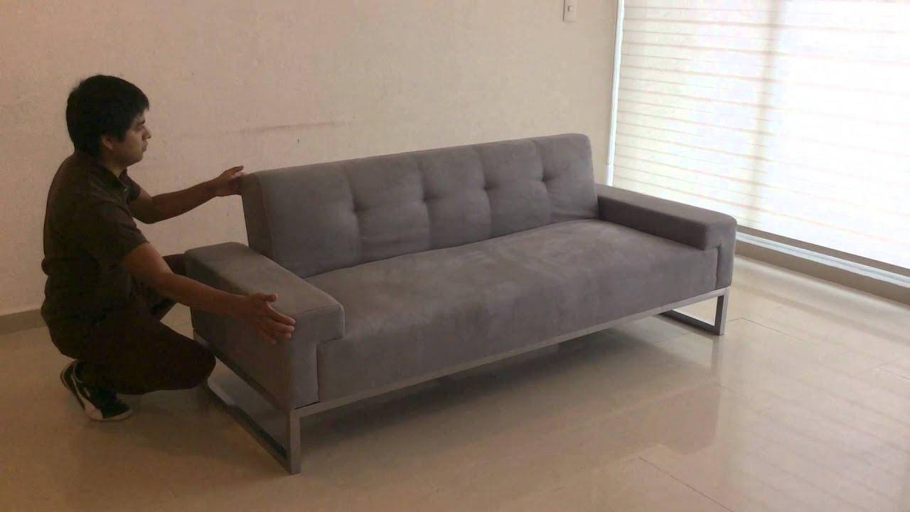 Sofa cama minimalista muebles meet youtube - Sofa cama minimalista ...