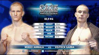 CAGE 42 Mikko Ahmala vs Vojtech Garba Full Fight MMA