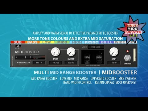 MIDBOOSTER - Mid Range Frequency Booster for Reason
