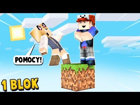 CZY ZOSTANĘ SAM NA JEDNYM BLOKU W Minecraft? | Vito I Bella