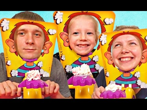 Челлендж ПИРОГ В ЛИЦО или PIE FACE Challenge kids Messy Whipped Cream in the Face Game!