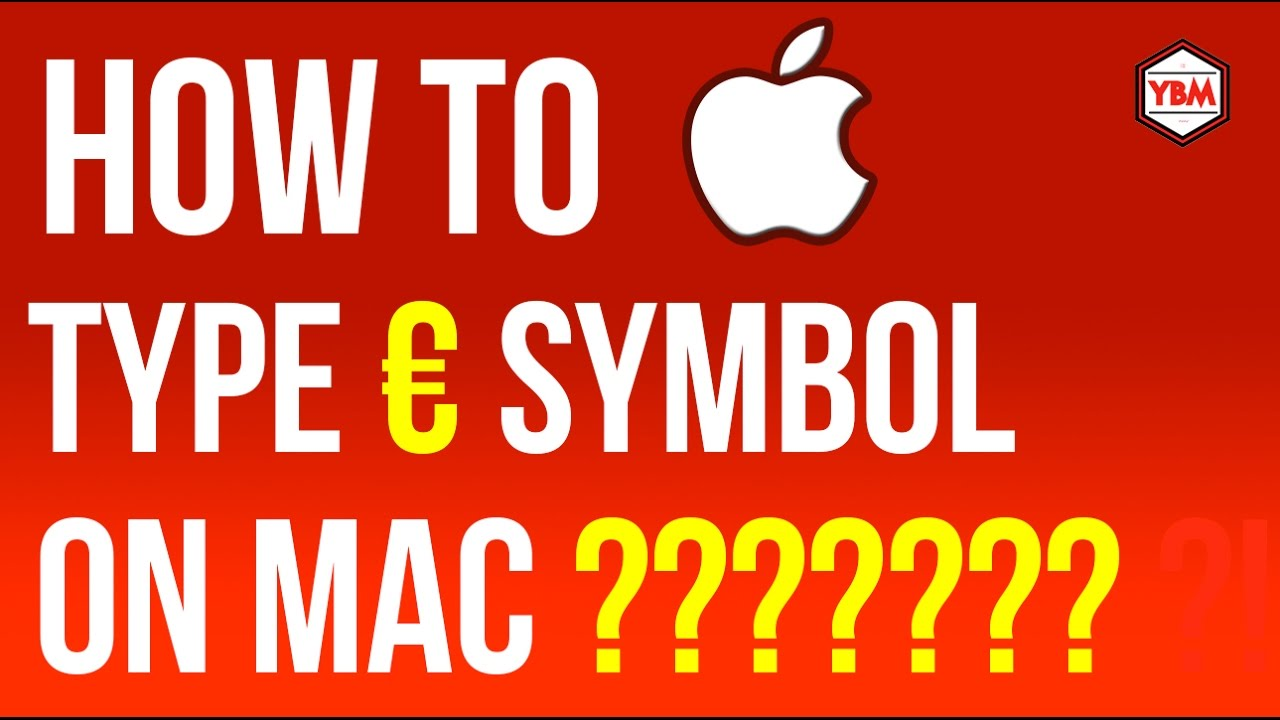How To Type Euro Symbol On Mac Osx Youtube