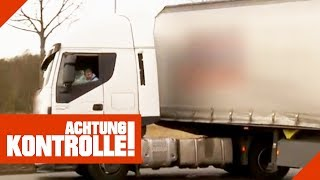 Krasse Fehlbeladung! LKW wird aus dem Verkehr gezogen! 2/2 | Achtung Kontrolle | Kabel Eins