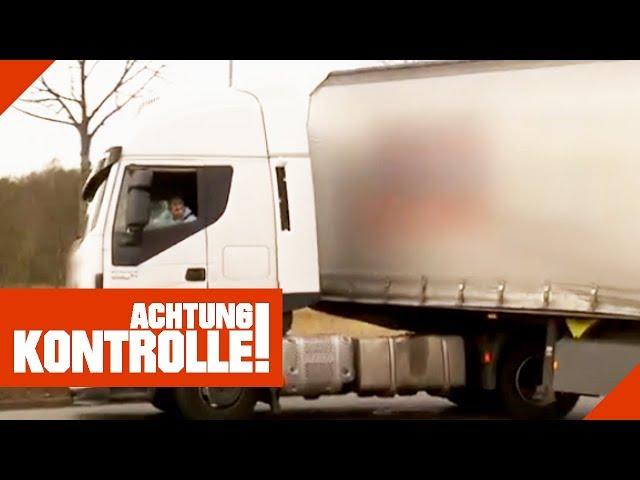 Krasse Fehlbeladung! LKW wird aus dem Verkehr gezogen! 2/2   Achtung Kontrolle   Kabel Eins