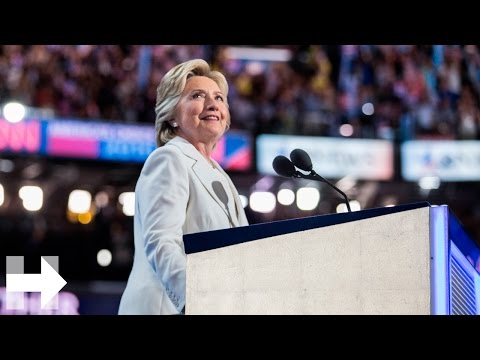 Hillary Clinton accepts the Democratic Party