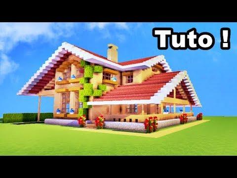 tuto comment faire une tr s belle maison en bois sur minecraft youtube. Black Bedroom Furniture Sets. Home Design Ideas