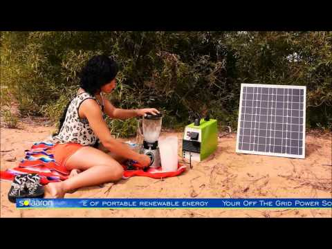 Solar Generator Off-The-Grid Deserted Island Demonstration by Solaaron Energy