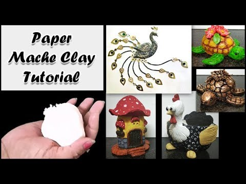 Easy Home Made Paper mache Clay Tutorial / Tissue paper matche Clay/Art and craft