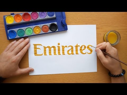 How to draw an Emirates logo