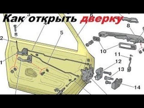 Как открыть дверь Volkswagen Passat B5 проблема решена.аварийное открывание