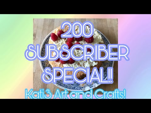 Baking a Cake for 200 Subscribers!! | How to bake a sponge cake! | Kati3 Art and Crafts