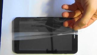 Наклейка защитной плёнки на планшет Ирбис Sticker protective film on the tablet Irbis