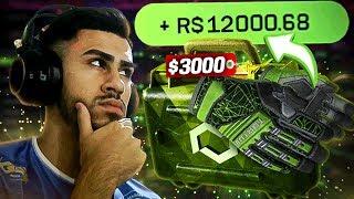 PROFITEI $3000 NAS CAIXAS DE LUVA E FACA NO CSGO.NET