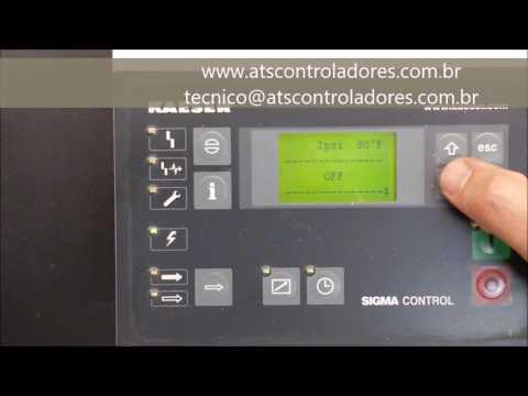 Sigma Control Kaeser 7.7000.1 -  Reset de Manutenção (Maintenance Reset)