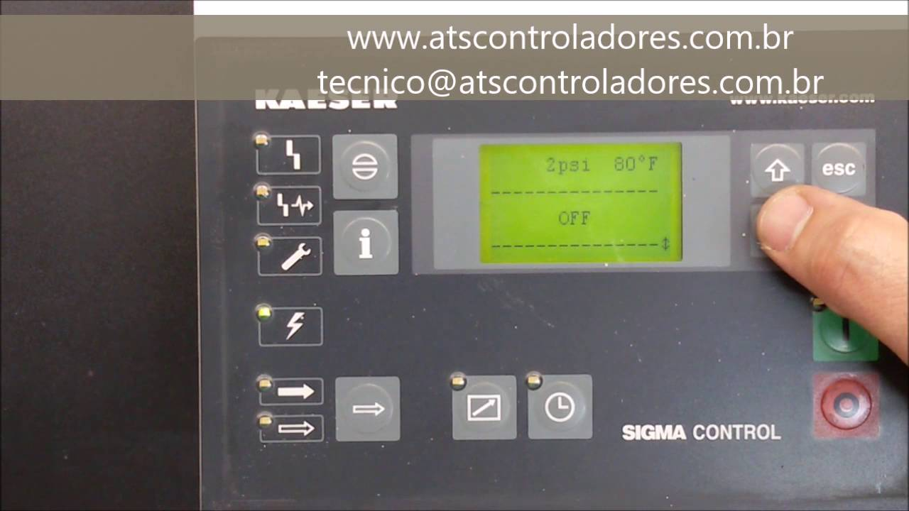 small resolution of sigma control kaeser 7 7000 1 reset de manuten o maintenance reset youtube
