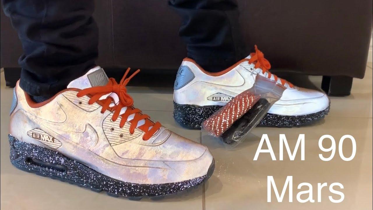 best service ca5e6 81c05 Nike Air Max 90 Mars Landing On-Feet + Sizing (3M Test)