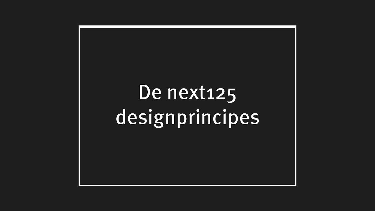 Next design principles dutch version youtube