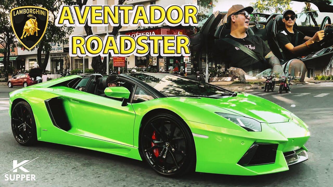 Phan Công Khanh trải nghiệm trên Lamborghini Aventador Mui Trần cùng Anh người Đức đam mê Siêu xe !