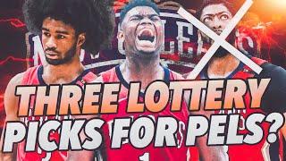 THREE LOTTERY PICKS? Zion + Coby + Reddish New Orleans Pelicans Rebuild! NBA 2K19