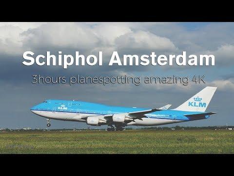 3 Hours Plane Spotting Amsterdam Airport Schiphol HEAVY (AMS) - 4K
