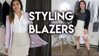 HOW TO STYLE A BLAZER   Outfit ideas and layering