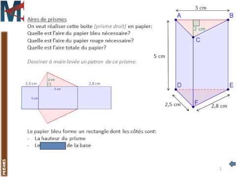 calculer la hauteur d un prisme droit
