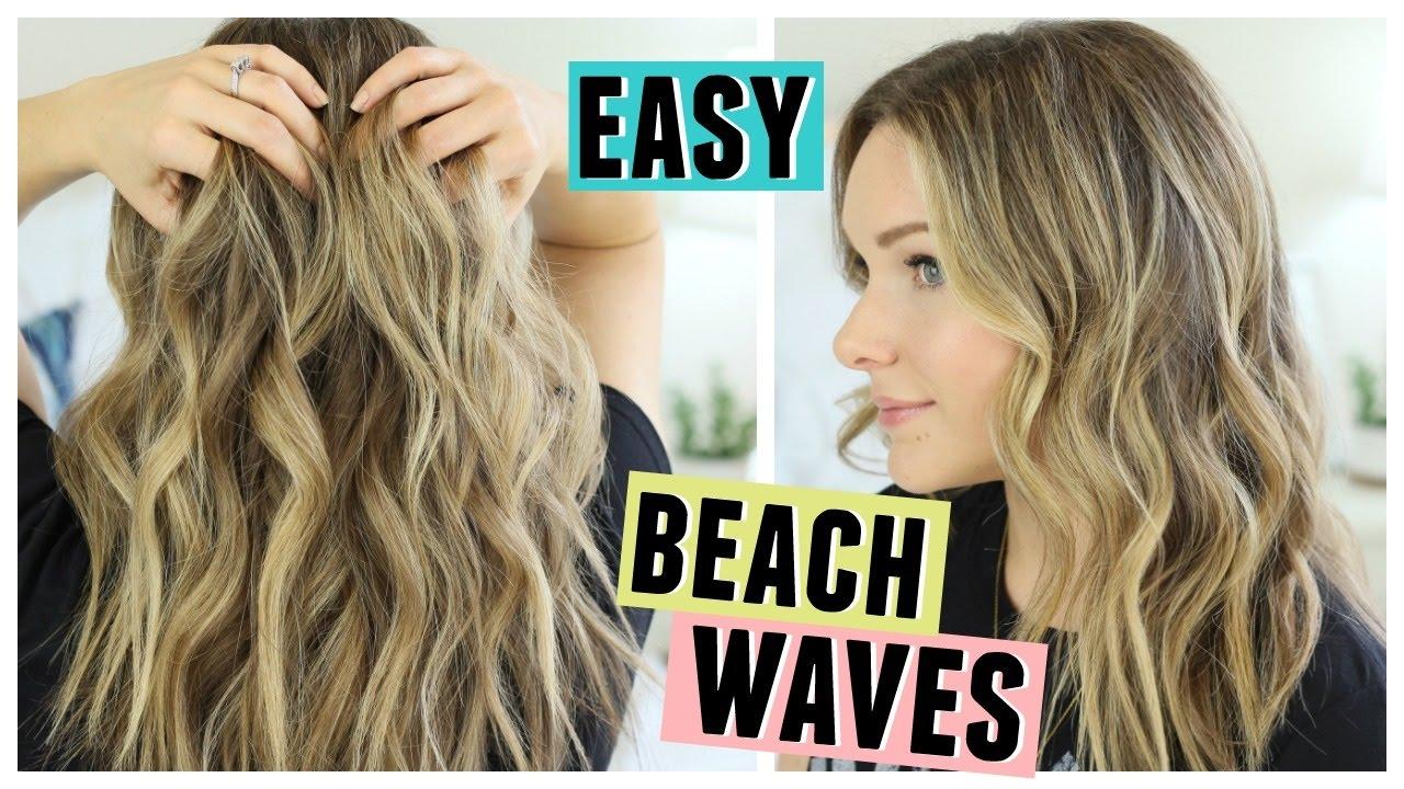 easy beach waves hair | how i style my hair