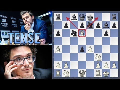 On the cliff edge ⚡️ | Caruana vs Carlsen | Norway Chess 2020