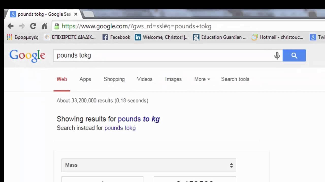 convert pounds to kilos - YouTube
