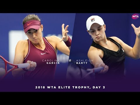 Caroline Garcia vs. Ashleigh Barty | 2018 WTA Elite Trophy Day 3 | WTA Highlights