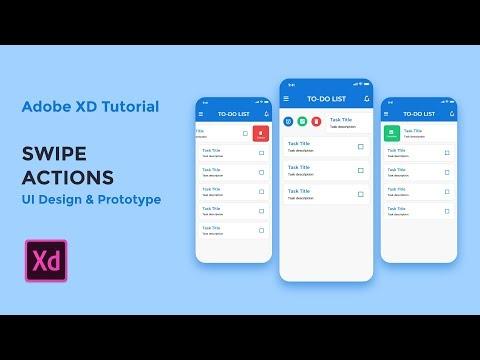 Swipe Actions - Adobe XD tutorial [2019]