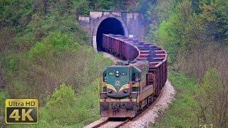 "EMD G16 ""Kenedi"" locomotives - Railway line Zivinice - Zvornik Novi - Brasina [4K]"
