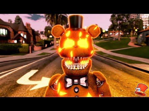 NEW JACK-O-FREDDY HALLOWEEN ANIMATRONIC! (GTA 5 Mods For Kids FNAF RedHatter)