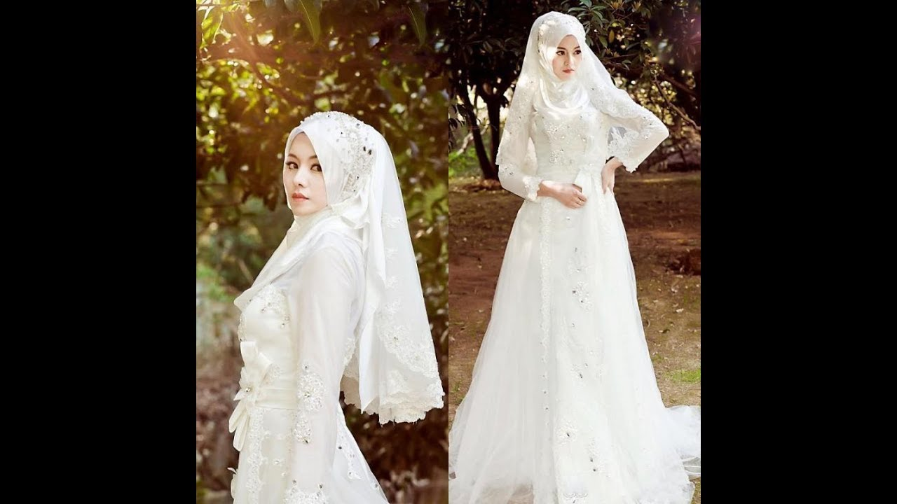 Muslim Wedding Dresses With Sleeves And Hijab - YouTube