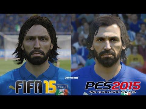 FIFA 15 vs PES 2015 ITALY (National Team) Face Comparison
