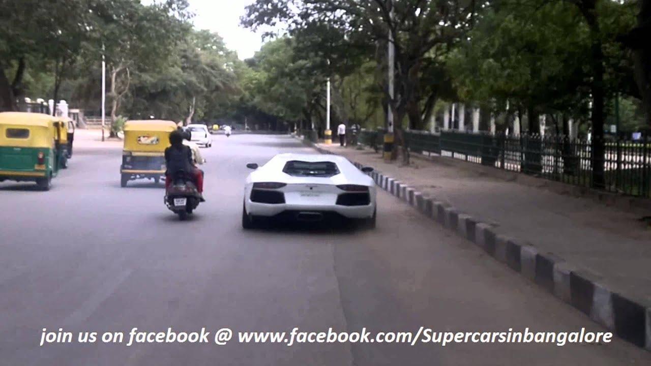 Lamborghini Aventador In Bangalore Youtube