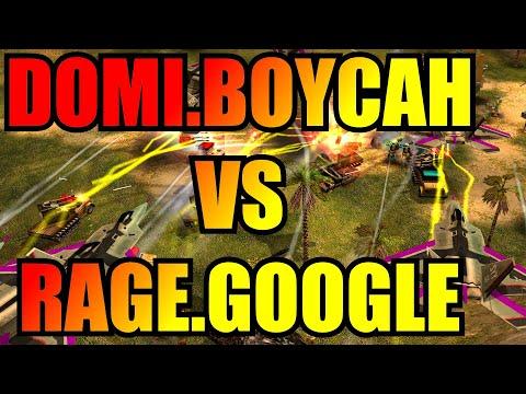DoMiNaToR/BoYcaH Vs Google/Rage - 2v2 Challenge $100 - Generals Zero Hour