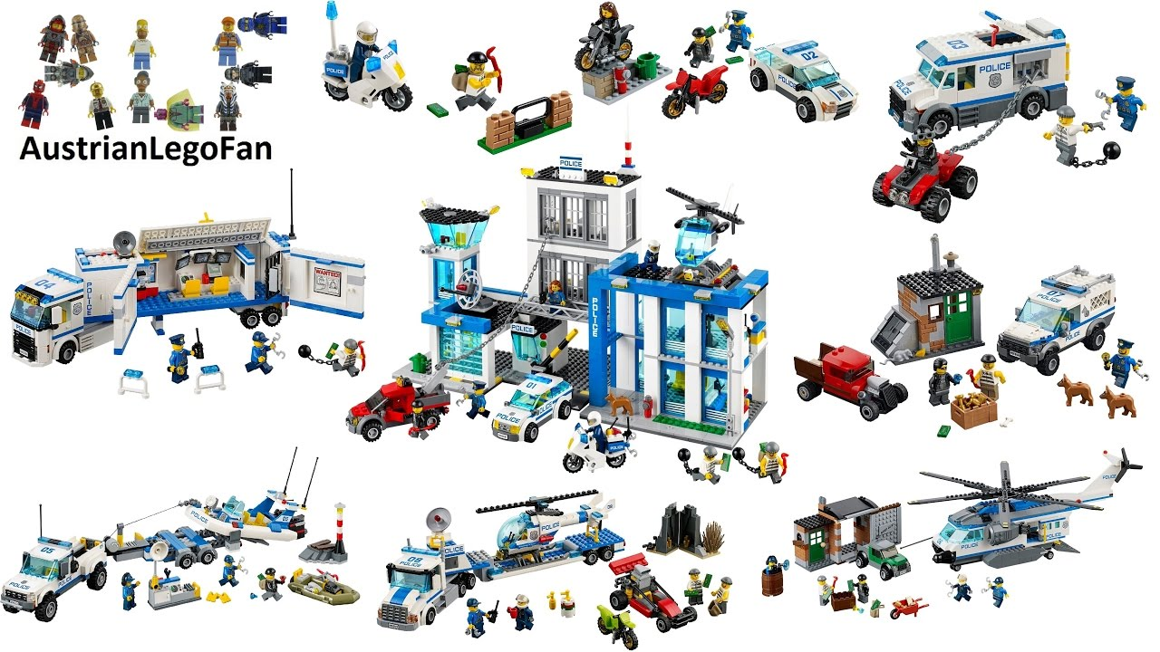 All Lego City Police Sets 2014 Lego Speed Build Review Youtube