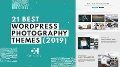 21 Best Photography WordPress Themes (2019)