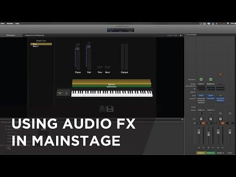 Using Audio FX in MainStage