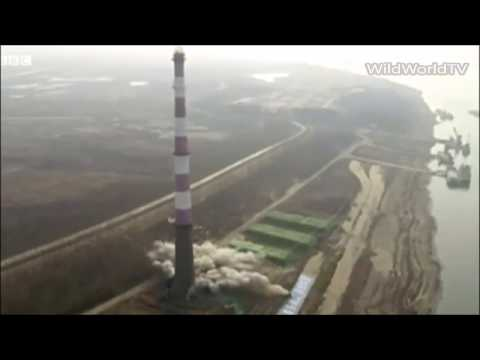 China Power Tower Flattened In Demolition