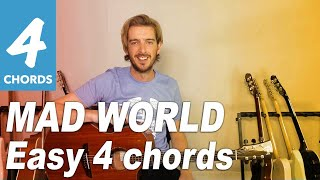 Mad World Guitar lesson tutorial - EASY 4 CHORDS - Tears For Fears/ Gary Jules