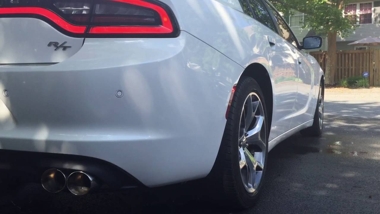2015 Charger Rt With Quad Tips Straight Pipe Youtube