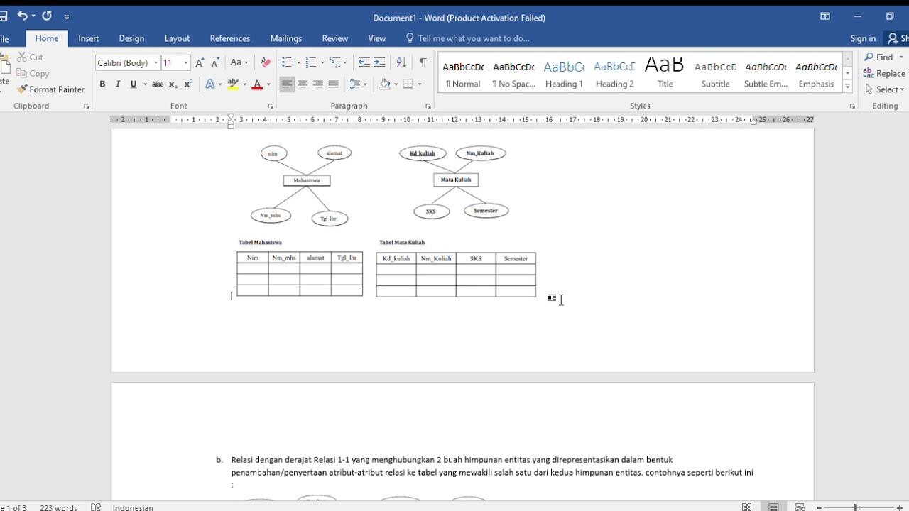 2. Jelaskan contoh kasus pemodelan sistem ERD disertai ...