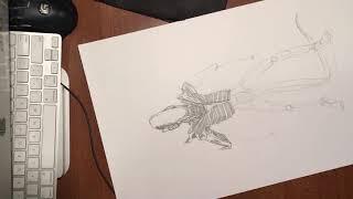 Drawing Alien from Alien (1979) - Small Portion