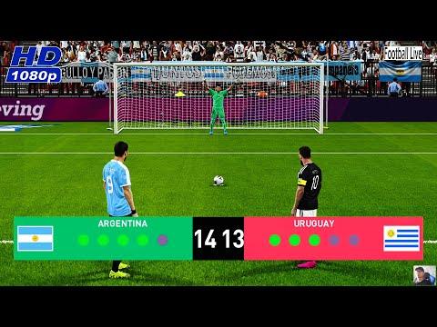 PES 2020   ARGENTINA Vs URUGUAY   Penalty Shootout - International Friendly Match   Messi Vs Suarez