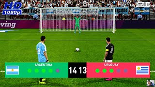 PES 2020 | ARGENTINA vs URUGUAY | Penalty Shootout - International Friendly Match | Messi vs Suarez