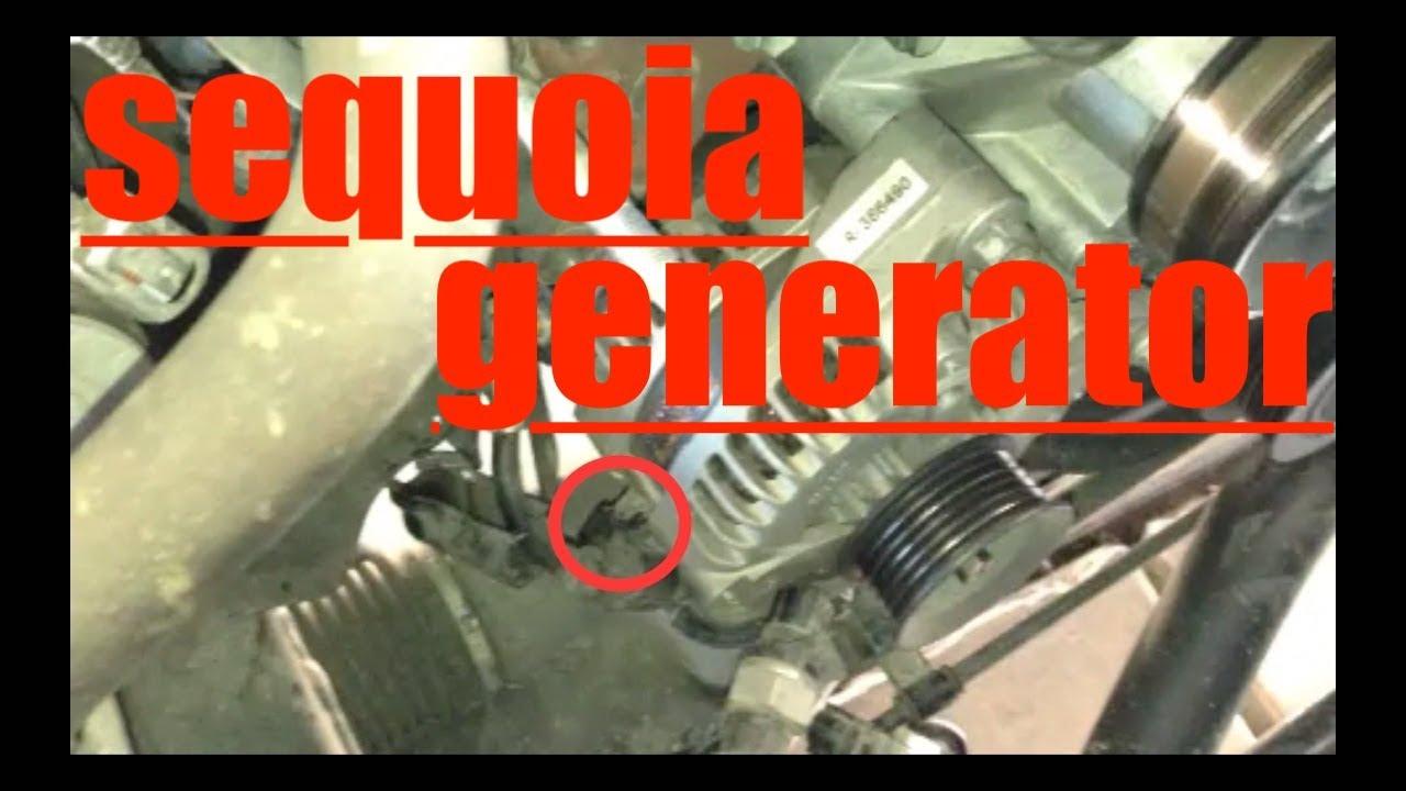 DETAILED Alternator Generator Replacement Toyota Sequoia