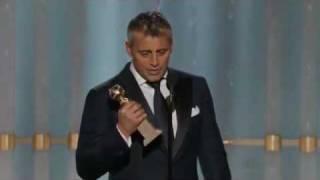 Matt LeBlanc winning a Golden Globe 2012 HQ